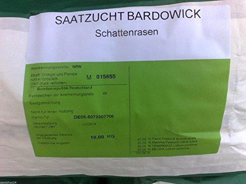 Rasen Dürreresistente Rasenmischung Schattenrasen 5kg für ca. 150 m² Gras Rasensamen - Qualität...