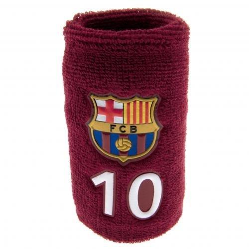 FC Barcelona Schweißband Nummer 10–Schweißband- mit Gummizug, Einheitsgröße ca. 12cm breit, offizielles Lizenzprodukt. (Zwölf Mädchen-band)