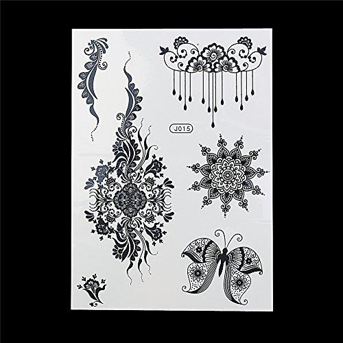 Tatuaggi Tatoo Temporanei Henné Nero bj015 Adesivi