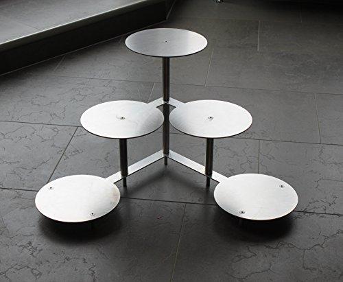 Edelstahlheini.de Présentoir pour pièce montée et gâteaux 3 niveaux 5 plateaux Ø 20 cm