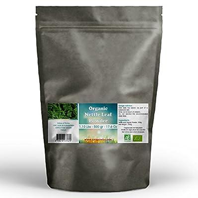 Organic Nettle Leaf Powder 500g - 1.10 Lbs from GPH