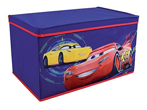 FUN HOUSE 712767 Coffre à jouets pliable pour Enfant Untisse/MDF Bleu 55, 5 x 34, 5 x 34 cm