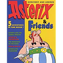 """ASTERIX and FRIENDS 5 IN 1: """"Asterix the Gladiator"""", """"Asterix in Switzerland"""", """"Mansions of the Gods"""", """"Asterix and the Laurel Wreath"""", """"Obelix and Co."""" (The Adventures of Asterix)"""