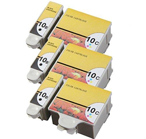 Tian Tintenpatronen Kodak 10XL Kokda 10BK Kodak 10C kompatibel für Kodak ESP 3, ESP 5, ESP 7, ESP 9, ESP 3200, ESP 3250, ESP 5000, ESP 5100, ESP 5200, ESP 5210, ESP 5250, ESP 5300, ESP 5500, ESP 7200, ESP 7250, ESP 9200, ESP 9250, ESP Office 6100, ESP 6150, Hero 6.1, Hero 7.1, Hero 9.1 (3 set) (10c Farbe Tinte Patrone)