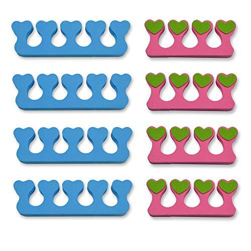 8 Stück Pediküre Set (K-Pro Zehenspreizer Fingerspreizer Set 8 Stück Abstandhalter Nägel Lackierhilfe)