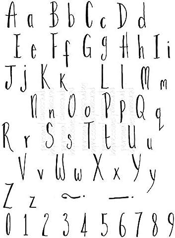 Personal Impressions PICSA6444 Lindsay Mason Designs Klare Stempel, dünnes Alphabet,