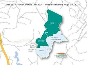 Navmek - Carte GPS Afrique Centrale pour Garmin - MicroSD/SD