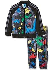 adidas Niños ywf Superstar Chándal, otoño/invierno, infantil, color Multicolor/Black, tamaño 5 años (110 cm)