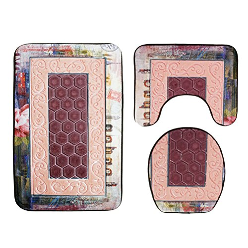 TOPBATHY 3pcs Juegos alfombras tocador Antideslizantes