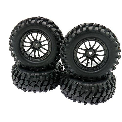 RCAWD 1:10 Offroad Rock Crawler 96mm Rc Auto Reifen Felge 12mm Hex Hub Kunststoff Gummi 14 Speichen 210128 4 Stücke (12mm Rc Reifen Und Räder)