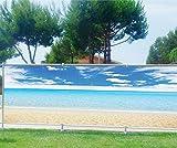 Brise Vue bedruckt, Garten, Terrasse, Balkon Deko Strand Meer, 100%, 340x132cm