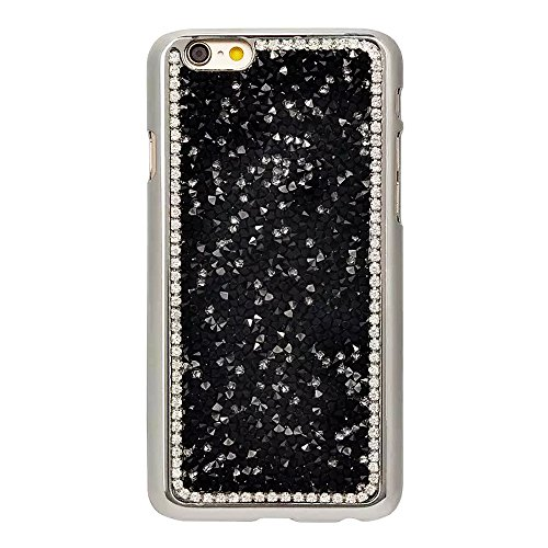 """iPhone 6sPlus Hülle, iPhone 6Plus Kristall Motiv Handytasche, Bling Glitzer Diamant Series CLTPY 3D Kreativ Überzug Hartplastik Schutzfall für 5.5"""" Apple iPhone 6Plus/6sPlus (Nicht iPhone 6/6s) + 1 x  Schwarz"""