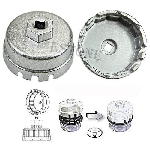 lailongp Toyota Prius Corolla Rav4 Auris Ölfilter-Aluminium-Cup-Schlüssel, verstellbarer Maulschlüssel -