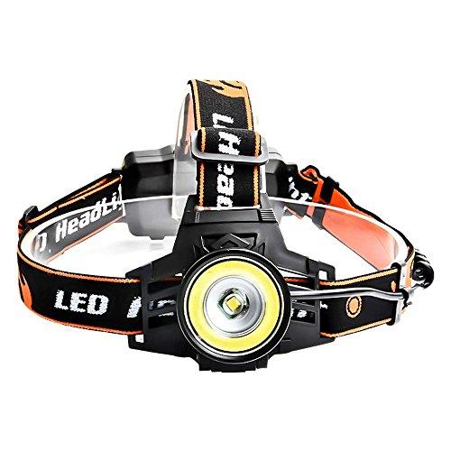 Zmsdt LED Scheinwerfer 4 Modi Scheinwerfer Camping Kopflampe XM-L T6 + 10000lm 18650 Kopf Licht Laterne Für Angeln Im Freien (größe : A) Mode-quad