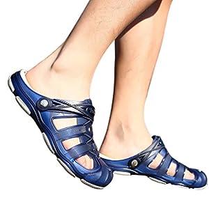 Unisex Clogs Hausschuhe FORH Männer Strand Sandalen Atmungsaktiv Mesh Hefterzufuhren Pantoletten Outdoor Rutschfest Hausschuhe Sommer Alltägliche Drag Schuhe