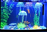 Jooks 5 Stücke Jellyfish Aquarium Dekoration Künstliche Künstliche Quallen für Aquarium Deko Fisch Tank Aquarium Ornament Glowing-Effekt Fish Tank Ornament