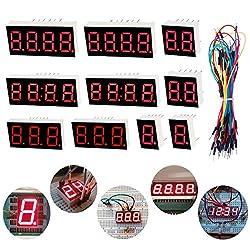 Youmile 10 STÜCKE Led-anzeige 7 Segment 1Bit 2Bit 3Bit 4Bit Gemeinsame Kathode 10PIN Rotlicht Für Arduino, DIY + Jump Wire
