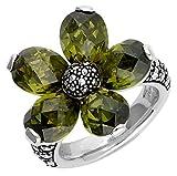 Thomas Sabo Blume Ring Silber mit Markasit und Zirkonia RG 54 TR1874-021-6-54