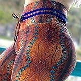MAIMOMO Calzamaglie E Leggings Sportivi da Donna Simulazione Corteccia Stampa Yoga Pantaloni Sport Leggings Fitness Pantaloni Dell'Anca Donna