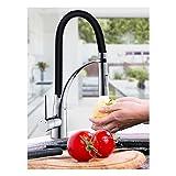 Auralum® 360°drehbar Mischbatterie Küchenarmatur Waschtischarmaturen Wasserhahn mit herausziehbarem Brausekopf Armatur in Küchen Waschbecken