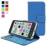 iPhone 5c Hülle (Blau), SnuggTM - Flip Case mit