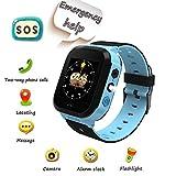 Smartwatch pour Enfants, Appel d'urgence SOS, localisation GPS, Zone de sécurité, Appareil Photo, réveil, Lampe de Poche, Jeu numérique, Montre Intelligente pour Enfants de 3 à 14 Ans (Bleu)...