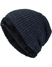 Streifen Strick Mütze mit Bommel in 6 Farben Pom Beanie grob