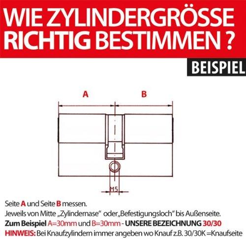 ABUS Zylinder C 73N SB 40/40 mit Not- und Gefahrenfunktion - 2