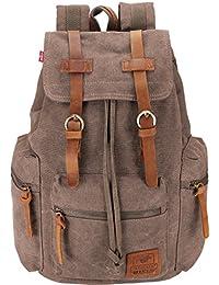 Canvas Vintage Rucksäcke BESTOPE Damen Herren Schulrucksack Retro Backpack für Campus Studenten und Outdoor Reisen Wandern mit Großer Kapazität