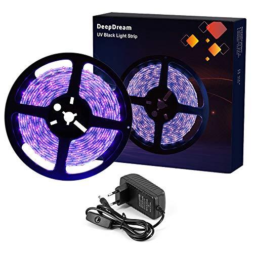 JoyGood wasserdichter UV Schwarzlicht LED Streifen 5 Meter mit 300 Stück 3528 UV-SMD, 12V Netzteil und IP65 Zertifizierung. Lichterkette / Lichtstreifen - 7