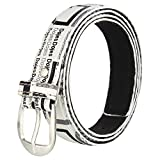 Hob LondonFashion With Device CREAM Color SOLID Belt For WOMAN
