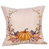Tatis Kissen Dekorativer Kissenbezug Halloween-Thema Druckkürbismuster Happy Thanksgiving Day Dekokissen Cases Cafe Sofa Kissenbezug Home Decor 45cm x 45cm im 9 Aeten