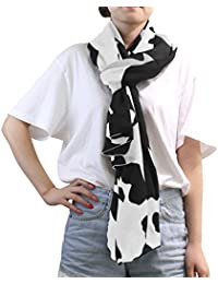 MRMIAN Cow Skin Wild Animal Print Stylish Black And White Scarf Wrap Stole Shawl