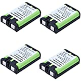 Masione 4 Pack HHR-P107 Cordless Phone Battery 3.6V Ni-MH Replacement Rechargeable Battery For Panasonic HHR-P107 HHRP107 HHRP107A/1B BB-GT1500 BB-GT1540 BB-GT1540B BB-GTA150 BB-GTA150B BB-GT1500B