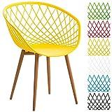Sedia visitatore Mora - comoda e di design! Questa sedia visitatore di design regala a qualsiasi ambiente un look esclusivo. La sedia offre una combinazione vincente di materiali quali polipropilene della seduta e metallo in effetto legno del...