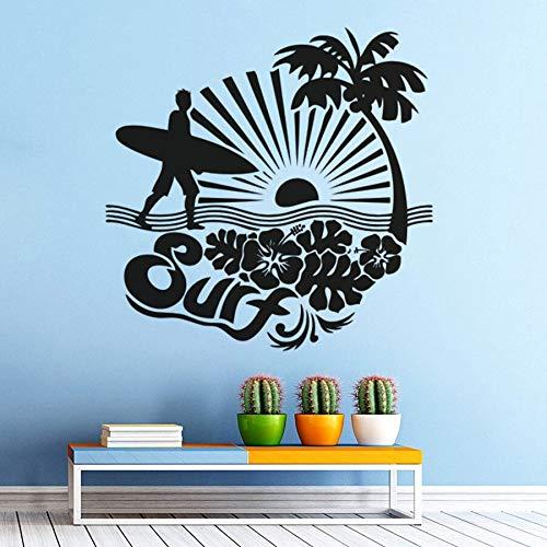YuanMinglu Sea Palm Wandaufkleber Sea Shell - Wand - Plakat Surfen Palme Wandtapete 50.4 cm x 50.4cm -
