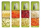 Spiralschneider für Gemüse Twinzee - mit 4 auswechselbaren Klingen - Innovatives Design für eine optimierte Aufbewahrung - Der beste Spiralschneider, um aus Früchten und Gemüse Spaghetti, Spiralen sowie Band- und Fadennudeln zu machen Bild 3