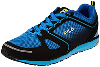 Fila Men's Voyage Black and Aqua Blue  Running Shoes -6 UK/India (40 EU)