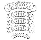 50 Stück Metall Buch Mappe Ringe Metallklammer Loseblatt Ringe Silber 3 Größen