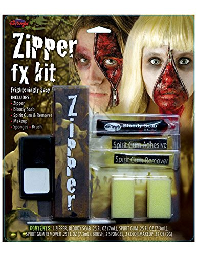 Reissverschluss im Gesicht Halloween Make Up Set haut - Make-up Scary Halloween Leicht