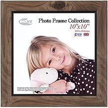 Inov8 10 x 25,4 cm marco de fotos, 4 unidades, madera de fresno con rústico