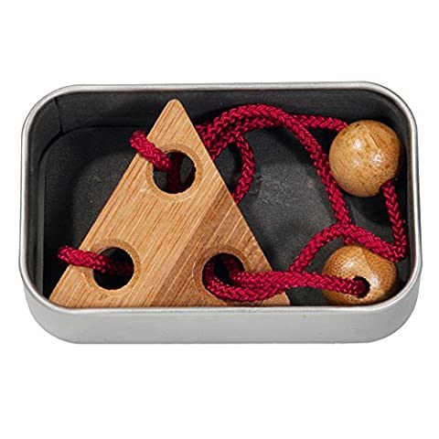 Fridolin 17136 Red Bamboo String Puzzle in a Box