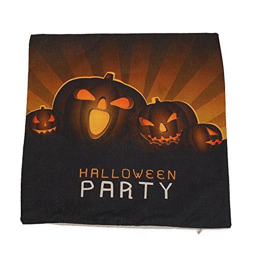 Kicode Holloween Gedrucktes Quadrat Kissenbezug Wurfkissen Home Sofa Car Decor Back Kissen Case (Holloween Kostüme Muster)