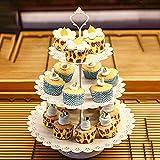 G-wukeer Cupcake Stand , 12Pcs Kristall Metall Cupcake Halter Kuchenständer Schokoladenbrunnen für Abschluss Party Supplies 2019 - 3