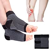 #1: SGM® Tight Compression Socks Pair, Foot Compression Sleeves for Ankle Heel Swelling, Plantar Fasciitis, Long Flights, Running, Varicose Veins (Black)