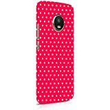 Cover Affair Polka Dots Printed Designer Slim Light Weight Back Cover Case Compatible with Moto G5s Plus/Motorola G5s Plus (Red) (G2-D53)