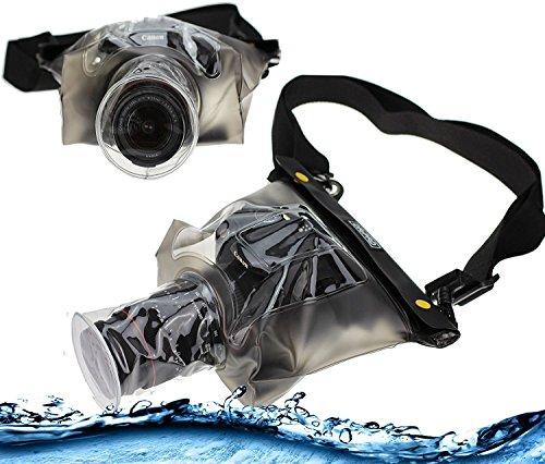 Navitech schwarze wasserdichte Unterwassergehäuse Kasten / Beutel-trockener Beutel für das Panasonic LUMIX DMC-FZ1000EG Premium Bridge Camera