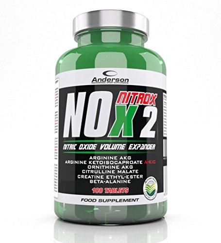 Integratore Anderson Nox Nitrox (100cpr) Arginina e Citrullina - Crescita muscolare - Vigore sessuale - Ossido nitrico