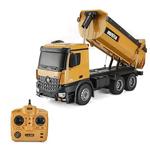 ZMH 1:14 10CH HUINA 573 RC Drum Truck 1573 Metall Groß RC Trucks 2,4 Ghz Fernbedienung Elektroauto Spielzeug Für Jungen 6 Jahre