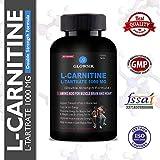 Glowsik L-Carnitine L-Tartrate 1000 mg weight loss fat burner supplements - 90 capsules